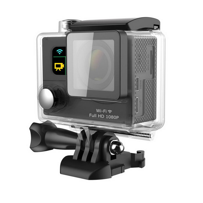 G3 2 2-Screen 1080P 12.0MP Wide Angle Camera Camcorder w/ WiFi- BlackSport Cameras<br>Form ColorBlackModelG3Shade Of ColorBlackMaterialPlasticQuantity1 DX.PCM.Model.AttributeModel.UnitImage SensorCMOSImage Sensor Size1/2.7 inchesAnti-ShakeYesFocal Distance12 DX.PCM.Model.AttributeModel.UnitFocusing Range12cmWide Angle6G 170°A+ HD  Ultra-wide-angle lensEffective Pixels12MPMax. PixelsCCR 5ImagesJPGStill Image Resolution4608x2592 12M  3760x2120 8M  2976x1672 5MVideoMOVVideo Resolution1920 x 1080 30fps @MOV(H.264)                                        <br>1080 x 720  60fps @MOV(H.264)Video Frame Rate30,60Audio SystemStereoCycle RecordYesISONoExposure CompensationNoWhite Balance ModeAutoSupports Card TypeTFSupports Max. Capacity32 DX.PCM.Model.AttributeModel.UnitBuilt-in Memory / RAMNoOutput InterfaceMicro USB,Micro HDMILCD ScreenYesScreen TypeTFTScreen Size2 DX.PCM.Model.AttributeModel.UnitScreen Resolution240 x 320Battery Measured Capacity 1050 DX.PCM.Model.AttributeModel.UnitNominal Capacity1050 DX.PCM.Model.AttributeModel.UnitBattery TypeLi-ion batteryBattery included or notYesVoltage3.7 DX.PCM.Model.AttributeModel.UnitBattery Charging Time2Low Battery AlertsYesWater ResistantWater Resistant 3 ATM or 30 m. Suitable for everyday use. Splash/rain resistant. Not suitable for showering, bathing, swimming, snorkelling, water related work and fishing.Supported LanguagesEnglish,Traditional Chinese,Italian,French,Others,Deutsch/Dutch/Polski/Turkish/Italiano/ThaiPacking List1 x Camera1 x Waterproof protection case3 x Connecting supports2 x Helmet buckles1 x Camera support1 x Adapter support1 x Bicycle frame1 x USB data cable (60cm)1 x Power adapter (EU plug, Input 100-240V 0.4A Output: 5V 1A)4 x Bicycle frame tags4 x Plastic bindings1 x Wiping cloth1 x English user manual<br>