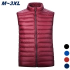Men's Ultra Light Thin 90% Down Jacket Vest - Red (XL)