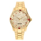 CJIABA Men's Luxury Rhinestone Scale Waterproof Auto Mechanical Watch w/ Calendar - Gold