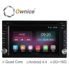 "Ownice C200 6.2"" Quad-Core Android 4.4 2-Din Car DVD Player w/ 2GB RAM for Nissan X-trail / Qashqai"
