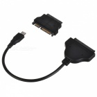 "CY U3-215 / SA-006 USB 3.1-kabel + SATA adapter for 1,8""/ 2,5"" - svart"