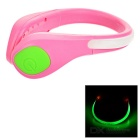CTSmart Outdoor Sports Green Light 2-Mode Safety Warning Shoes Wrist LED Light Clip - Pink + Green