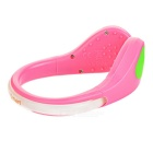 CTSmart Green Light 2-Mode Safety Shoes Wrist LED Clip - Pink + Green