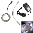 Decoration Waterproof 1.5W 50-SMD 0603 LED Cool White Light Strip w/ Adapter Controller (DC 12V)