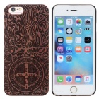 Maya Totem Pattern Back Case Cover for IPHONE 6 / 6S - Brown + Black