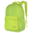 EDCGEAR Outdoor Travel Folding Portable Lightweight Nylon Shoulders Bag Backpack -Fluorescent Yellow