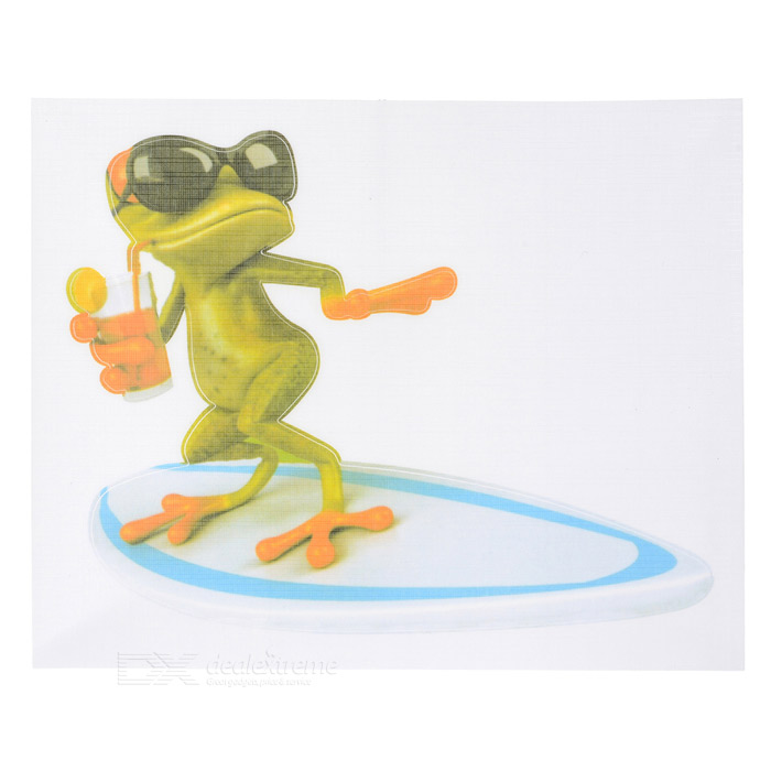 XQW-20 3D Frog Pattern PVC Car Decorative Decal Sticker - Green