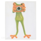 XQW-04 3D Frog Pattern PVC Car Decorative Decal Sticker - Green