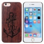 Anchor Pattern Protective Wood + PC Back Case Cover for IPHONE 6 / 6S - Brown + Black
