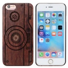 Camera Pattern Wood + PC Back Case Cover for IPHONE 6 / 6S - Brown