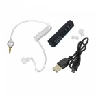 BT V3.0+EDR Vacuum Spiratron Anti-radiation Headset w/ Mic - Black