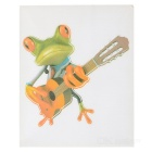 XQW-12 3D Frog Pattern PVC Car Decorative Decal Sticker - Green