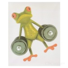 XQW-32 3D Frog Pattern PVC Car Decorative Decal Sticker - Green