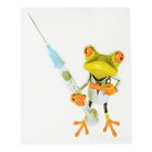 XQW-29 3D Frog Pattern PVC Car Decorative Decal Sticker - Green