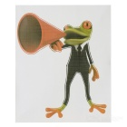 XQW-14 3D Frog Pattern PVC Car Decorative Decal Sticker - Green