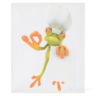 XQW-05 3D Frog Pattern PVC Car Decorative Decal Sticker - Green
