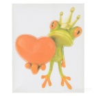 XQW-06 3D Frog Pattern PVC Car Decorative Decal Sticker - Green