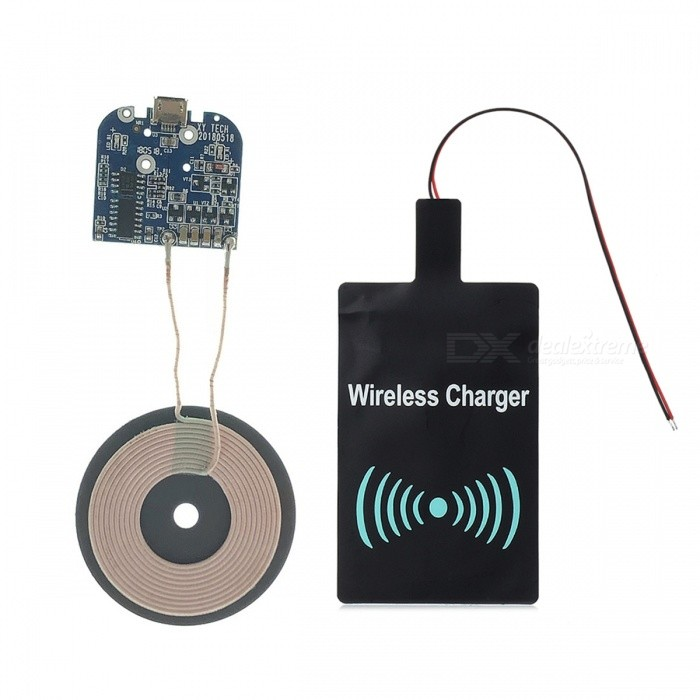 Qi Standard DIY Transmitting PCB + DC Receiving Module Charging Set