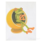 XQW-09 3D Frog Pattern PVC Car Decorative Decal Sticker - Green
