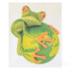 XQW-02 3D Frog Pattern PVC Car Decorative Decal Sticker - Green
