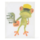 XQW-03 3D Frog Pattern PVC Car Decorative Decal Sticker - Green