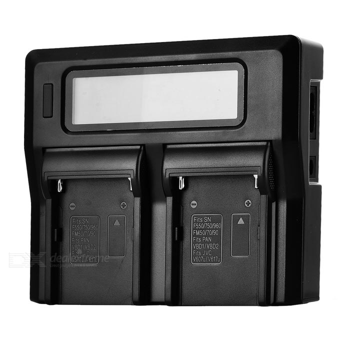 Camera Smart Quick Dual Battery Charger for F750 F550 F960 FM50/70/90