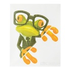 XQW-19 3D Frog Pattern PVC Car Decorative Decal Sticker - Green