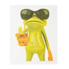 XQW-21 3D Frog Pattern PVC Car Decorative Decal Sticker - Green