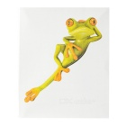 XQW-37 3D Frog Pattern PVC Car Decorative Decal Sticker - Green