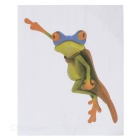 XQW-24 3D Frog Pattern PVC Car Decorative Decal Sticker - Green