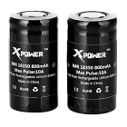 Xpower IMR 18350 800mAh Battery Set - Black (2PCS)