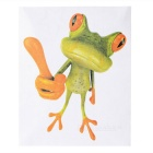 XQW-17 3D Frog Pattern PVC Car Decorative Decal Sticker - Green