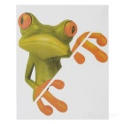 XQW-31 3D Frog Pattern PVC Car Decorative Decal Sticker - Green