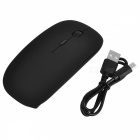 Rechargeable USB 2.0 2.4GHz LED Wireless Mouse - Black