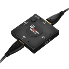 HD HDMI V1.4 3-IN 1-OUT switch + 1m Cabo HDMI - preto