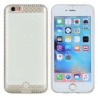 Protective DIY LED Picture by APP TPU Back Case for IPHONE 6 / 6S - White + Champagne