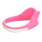 CTSmart White Light 2-Mode Safety Shoes Wrist LED Clip - Pink + White