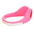 CTSmart Red Light 2-Mode Safety Shoes Wrist LED Clip - Pink + Red
