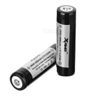 Xpower 18650 2600mAh Battery w/ Protective Cover - Black + White (2PCS)
