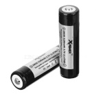 Xpower 18650 3100mAh Battery w/ Protective Cover - Black + White (2PCS)