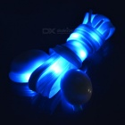 3-Mode Blue Light Flashing LED Shoelaces for Cycling - Blue (Pair)
