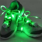 3-Mode Green Light Flashing LED Shoelaces for Cycling - Green (Pair)