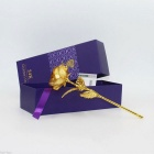 Valentine's Day Gift Dipped in 24K Gold Lover's Rose - Golden