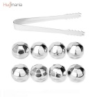 Hugmania Reusable Diamond Shaped Stainless Steel Ice Cube Set w/ Clamp for Wine/Juice/Soda (8PCS)