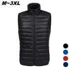 Men's Ultra Light Thin Down Jacket Vest 90% White Duck Down - Black (XL)