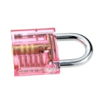 Mini One Slotted Transparent Pratice Padlock - Red