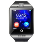 "Q8 1.54"" TFT GSM Smart Watch w/ NFC, Remote Camera, Compass - Black"