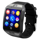 "Q18 1.54"" TFT GSM Smart Watch w/ Remote Camera, Compass - Black"