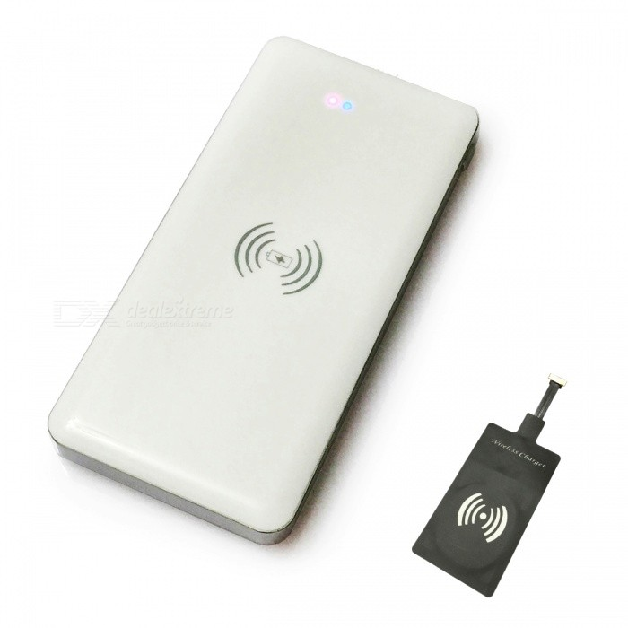 ismartdigi IP-601-SAM 10000mAh Power Bank w/ Wireless Charger - White