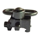 New Aluminum Alloy Sling Swivel Mount for 20mm Rail - Black
